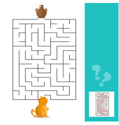 cartoon - maze or labyrinth game for vector image