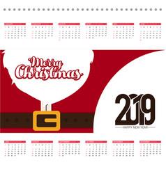 christmas calendar design card with creative vector image
