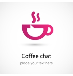 Coffee chat vector
