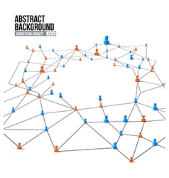 Connection concept abstract background grey line vector
