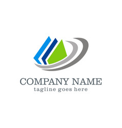 Data document abstract company logo vector