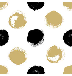 Decorative seamless pattern with brush drawn vector