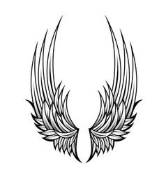 Decorative wings tattoo vector