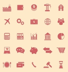 Economy color icons on yellow background vector image