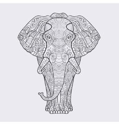 Elephant with a floral pattern vector