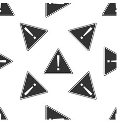 Exclamation mark in triangle icon vector