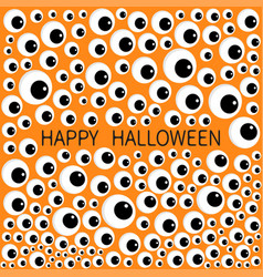 Eyes frame eyeball apple set happy halloween vector