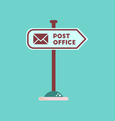 flat icon on background sign post office vector image