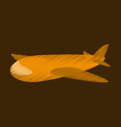 Flat shading style icon toy airplane vector