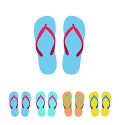 Flip flop set vector