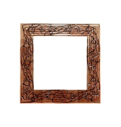 Frame black and brown with abstract print vector