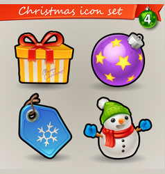 Funny christmas icons-4 vector