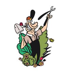 gardening cartoon characters vector image