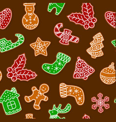 gingerbread cookies for christmas seamless vector image