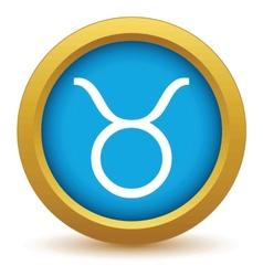 Gold Taurus icon vector image