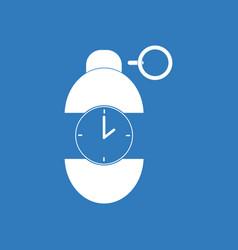 Icon grenade time to explode vector