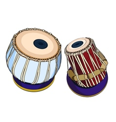 Indian musical instruments - Tabla vector image