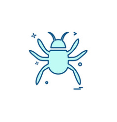 insects icon design vector image