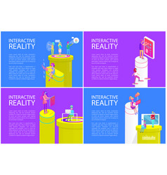 interactive reality posters vector image