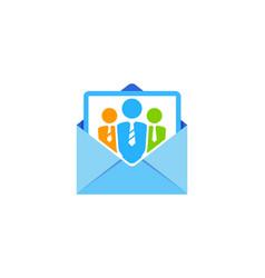 Job mail logo icon design vector