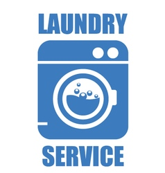 Laundry washhouse service simple icon vector