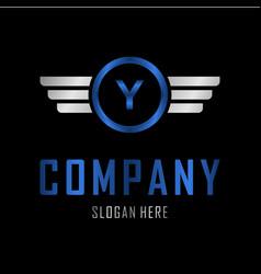 letter y automotive creative business logo vector image