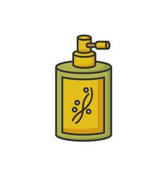 Liquid silicon in bottle rgb color icon vector