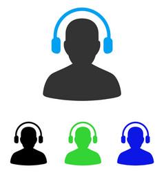 Listen operator flat icon vector