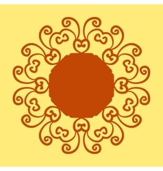 Mandala pattern print on Yellow Background vector image