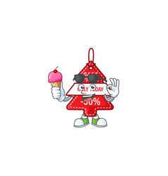 Mascot character featuring christmas best price vector