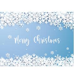 Merry christmas snowflake winter white vector