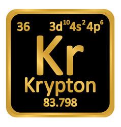 periodic table element krypton icon vector image