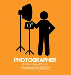 Photographer Graphic Symbol vector image