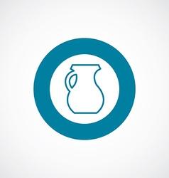 pitcher icon bold blue circle border vector image