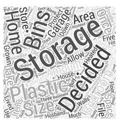 Plastic storage bins Word Cloud Concept vector