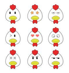 Random pattern head chicken emoticon vector
