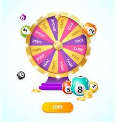 realistic 3d detailed casino fortune wheel and vector image