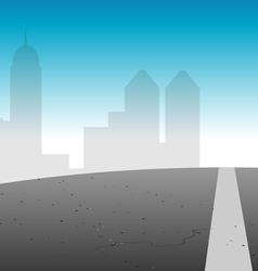 Road city skyline vector