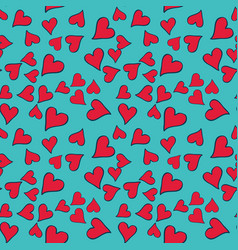 Seamless pattern with red heart for valentine day vector