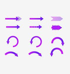 set of neon direct arrows vector image