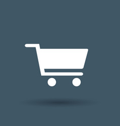 shopping cart icon on white background vector image