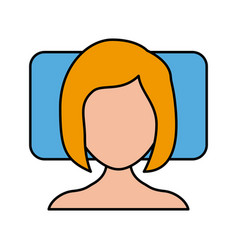 sleeping woman avatar icon vector image