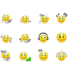 Smileys representing charging for body and vector