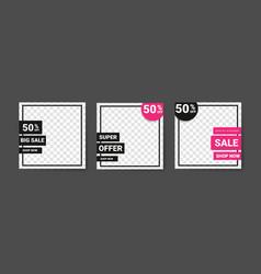 Social media post template for digital marketing vector