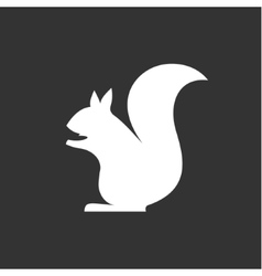 squirrel sits in monochrome minimalism vector image