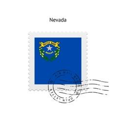 State nevada flag postage stamp vector
