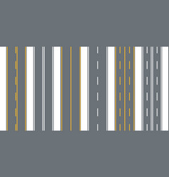 straight seamless roads vector image