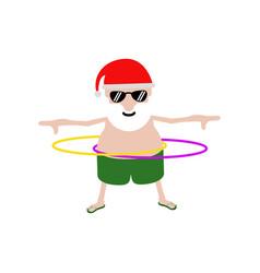 Summer santa claus cartoon character vector