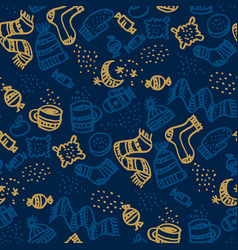 tea biscuits cookies sweets seamless pattern vector image