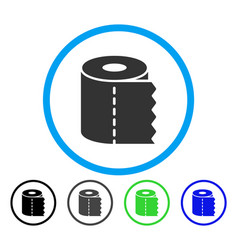 toilet paper roll rounded icon vector image